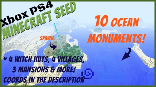 10 ocean monuments minecraft seed